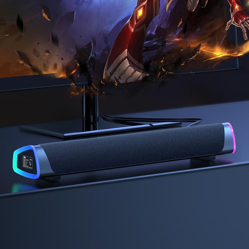 Altavoz Bluetooth con cable para ordenador, barra de sonido estéreo de graves, Subwoofer USB para PC, TV, teléfono, Home theater, HIFI