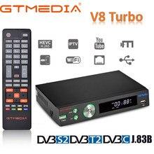 Neuheiten GTMEDIA V8 Turbo DVB-S/S2/S2X + T/T2/Kabel/J.83B digital satellite kabel Terrestrischen empfänger combo rezeptor TV box