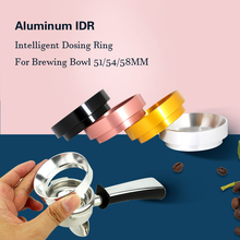 Aluminum Idr Breville Delonghi Intelligent Dosing Ring For Brewing Bowl Coffee Powder Espresso Barista 51/54/58mm Coffee Tamper stainless steel 51mm 53mm 58mm coffee powder ring intelligent dosing espresso barista bowl funnel portafilter coffee accessories
