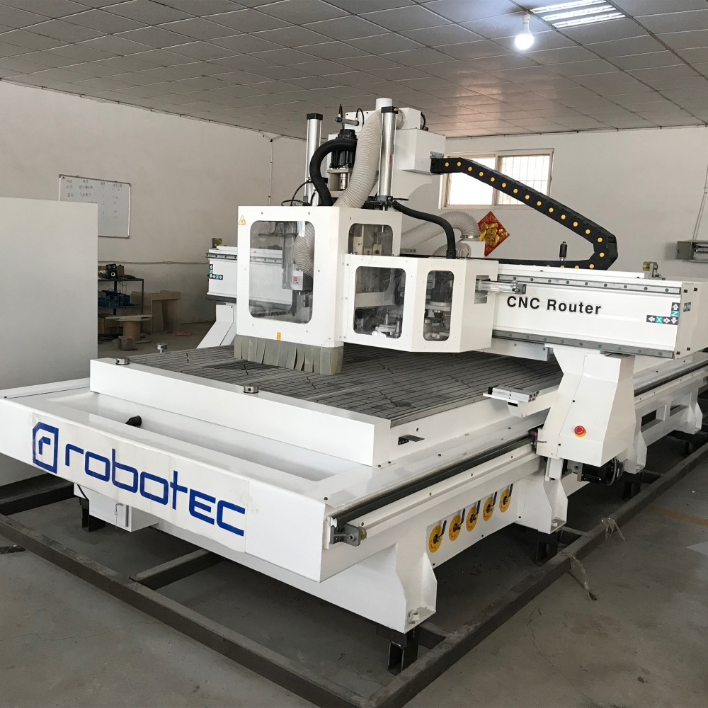 Full Automatic ATC CNC Router With Loading&unloading Machine CNC Furniture Production Line For Sale 1530 Cnc Engraving Machine