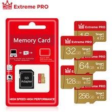 Carte mémoire microsd haute vitesse de classe 10, 8 go, 16 go, 32 go, 64 go, 128 go, TF, adaptateur offert