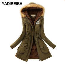 2020 Parka Women Jacket Women Winter Coat Women Warm Hooded Women Parka Female Jacket Long Coat Parkas 16 Colour cheap yadibeiba Casual zipper REGULAR Solid SLBE-16 Full 0 95kg COTTON Thick (Winter) Feathers Zippers Velour