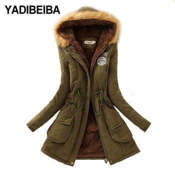 2020 Parka kobiety kurtka kobiety płaszcz zimowy kobiety ciepły kapturem kobiety Parka kurtka damska długi płaszcz parki 16 kolor tanie i dobre opinie yadibeiba Na co dzień zipper REGULAR Stałe SLBE-16 Pełna WOMEN 0 95kg COTTON Grube Pióra Zamki VELOUR