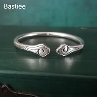 Bastiee 999 Silver Auspicious Clouds Men Bangle Bracelet For Women Ancient China Hmong Handmade Luxury Jewelry Vintage Unisex