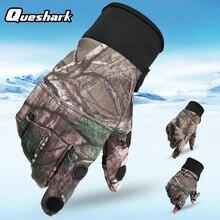Touchscreen Snowboard-Gloves Mittens Cycling Thin Queshark 2-Fingers Anti-Slip Outdoor