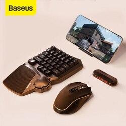 Baseus teclado mouse telefone móvel jogo adaptador gamepad controlador conversor móvel estação de transferência jogo para android & ios