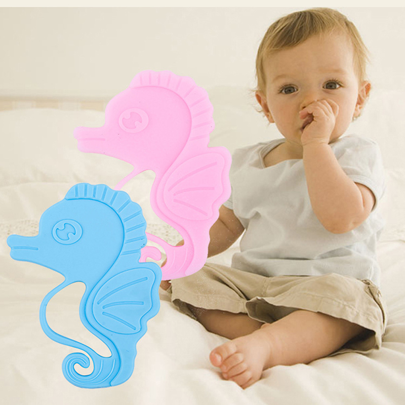 Infant Toothbrush Teething Bites Toys Baby BPA Free Silicone Horse for Baby Teether Food Grade Soft Silicone Teethers image