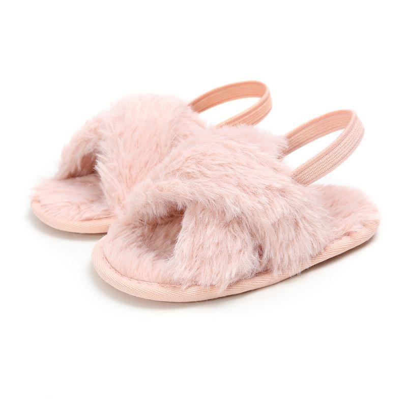 Baby Girls Shoes Fur Warm First Walkers Autumn Winter Warm Indoor Girls Shoes