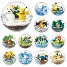 Pokemon brinquedos decoração pikachu pokeball + 1 pçs grátis minúsculas figuras wobbuffet mewtwo lapras chikorita articuno charizard brinquedos presente