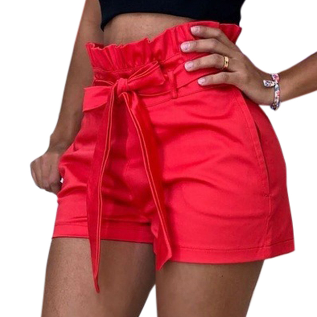 5XL Plus Size Women's High Waist Shorts Pure Color Loose Casual Shorts Feamle 2021 New Summer Streetwear Shorts For Women Ladies 2
