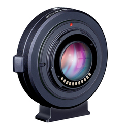 COMMLITE CM-AEF-MFT Booster 0.71X Focal Reducer Booster AF Lens Mount Adapter for Canon EF Lens to Panasonic/Olympus M4/3 Camera