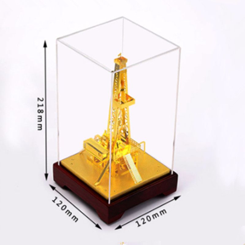 Drill Well Machine Machine Metal Oilfield Oil Extractor Pumping Unit Model Metal Decoration Gift.