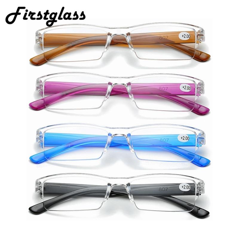 PANDER Ultralight Rimless Transparent Reading Glasses Fashion Retro Vintage Men Women Magnifying Presbyopic Glasses TR90 Gafas