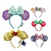 COSTUME Headband EARS Plush Bows Mermaid Adult/kids New Cosplay Big Sequin Gift