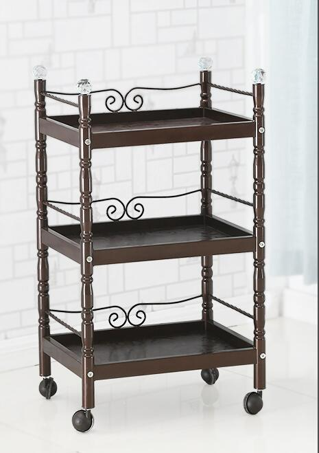 Купить с кэшбэком Beauty Salon Trolley Iron Beauty Salon Trolley Three-layer Nail Tool Cart Multi-function Storage Shelf Mobile