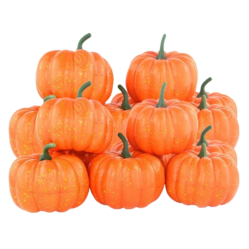 New Fake Fruit Home House Kitchen Decoration Artificial Lifelike Simulation Mini Pumpkins Halloween House Decoration Set Of 12|  - title=