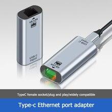 USB C Ethernet USB C כדי RJ45 Lan מתאם עבור MacBook סמסונג מחשב נייד Smartphone סוג C כרטיס רשת 10/100/1000 gigabit Ethernet