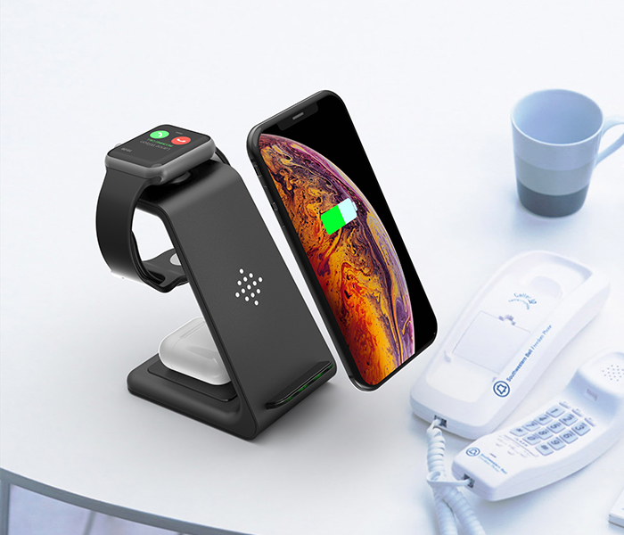 Bonola 3 in1 Wireless Charger For iPhone 11Xs AirPods Apple Watch 23 Wireless Charging Stand for iWatch iPhone 11ProXrXs Max (8)