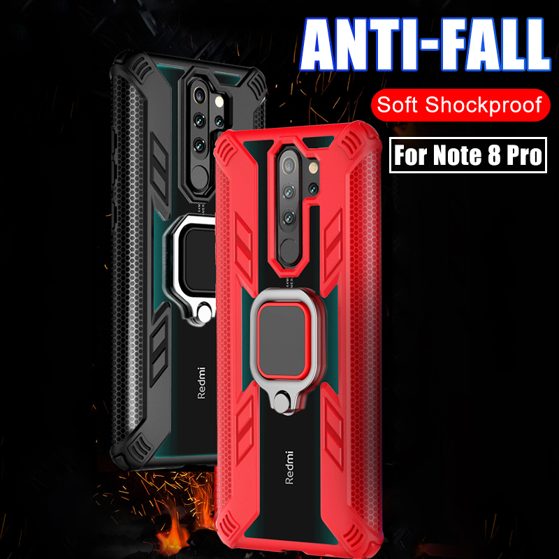 Magnetic Ring Stand <font><b>Metal</b></font> Armor <font><b>Case</b></font> For Xiaomi <font><b>Redmi</b></font> Note 8 8T 7 Pro <font><b>K20</b></font> Note7 Note8 Pro Shockproof Impact Bumper Shell Cover image