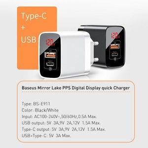Image 5 - Baseus cargador USB tipo C de 18W para iPhone 11 Pro Max, carga rápida 3,0 PD3.0, FCP AFC, Huawei y Samsung