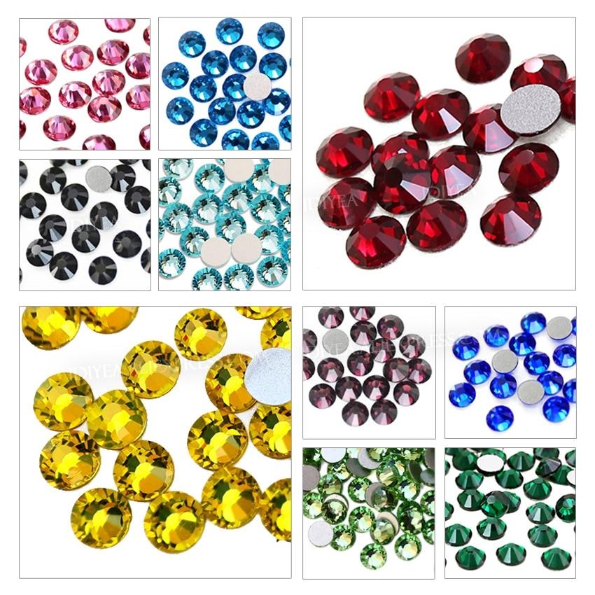 Multi farben SS3-SS30 Nicht Hot Fix Strass flache rückseite kristall strass glitter stein für DIY maniküre 3D nail art stoff kleidungsstück