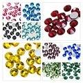 Разноцветные блестящие стразы с плоским основанием, блестящие камни для самостоятельного маникюра, 3D ткани для ногтевого дизайна, одежды