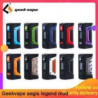 Kit de vape GeekVape Aegis mod aegis Legend 200W TC boîte MOD alimenté par double 18650 batteries e cigs pas de batterie pour zeus rta blitzen