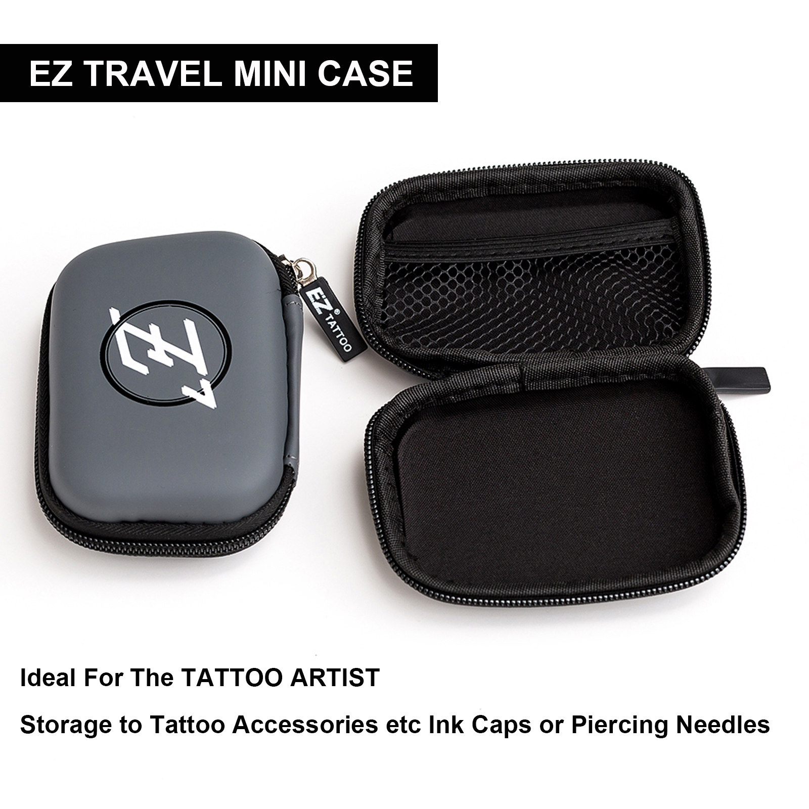 EZ Tattoo Mini Travel Case Rectangle Shaped Portable Protection Hard Case EZ Logo Zipper for Tattoo Equipment & Accessories