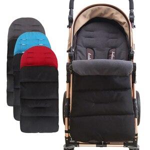 Image 1 - Детский матрас в коляске, водонепроницаемая муфта для ног, зимние спальные мешки, коврик, подкладка для коляски, конверт для новорожденных