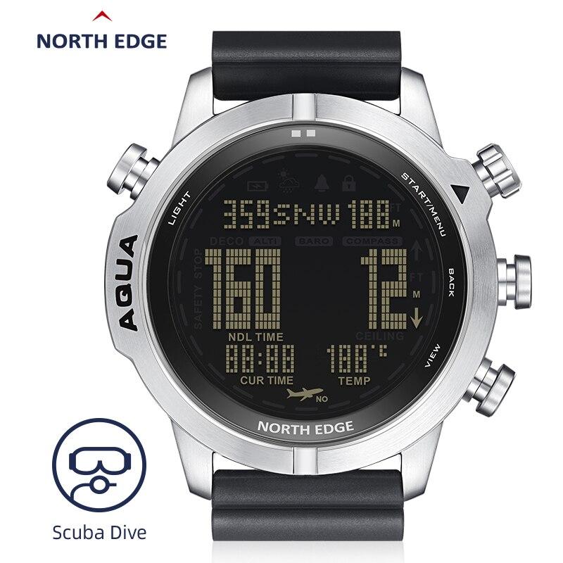 Мужские часы для дайвинга, водонепроницаемые, 100 м, умные цифровые, Бесплатная доставка/дайвинг часы, альтиметр, барометр, компас, температур...