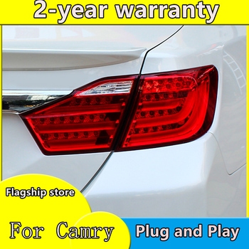 Car Styling for Toyota Camry 2012+ 2013 2014 12V Car LED Rear lights DRL Taillight Rolling Turning Signal Auto Rear Light