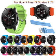 For Amazfit Stratos 2S new Fashion band 22mm Silicone Watchband For Samsung Gear S3 Frontier/Classic strap for Amazfit Stratos 2 watchbands 22mm sport silicone strap band for samsung gear s3 classic frontier replacement band for huami amazfit stratos 2 2s
