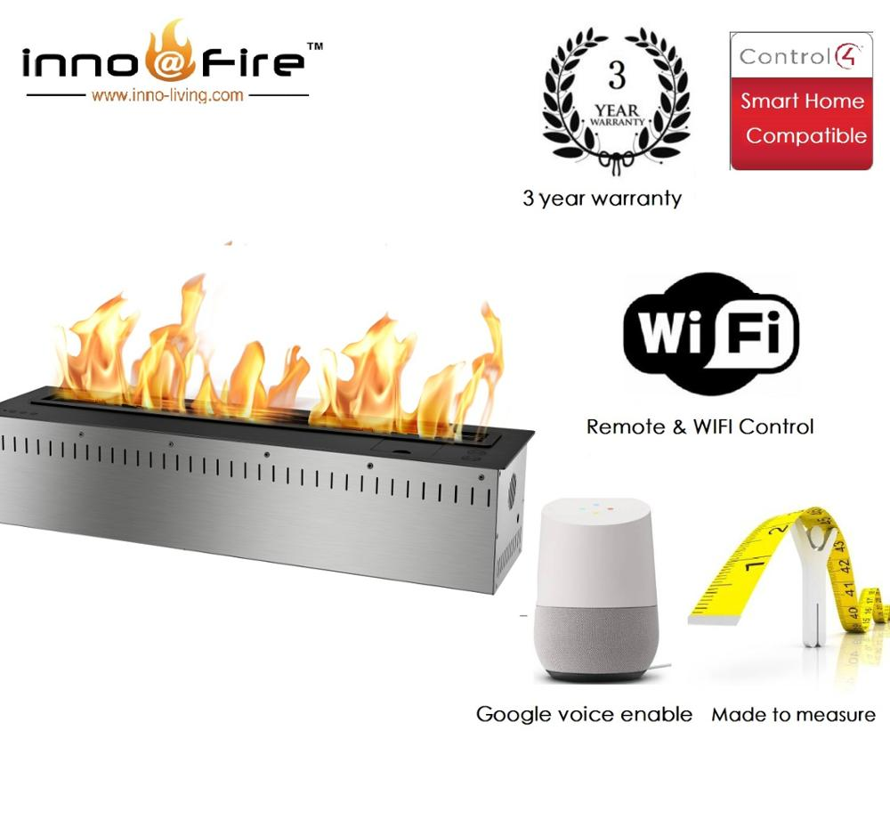 Inno Living Fire 72 Inch In Wall Fireplace With Remote Wifi Control