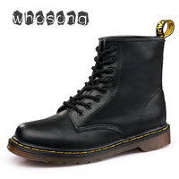 Winter Boots Doc Martins British Martins Vintage Classic Unisex Boots Genuine Leather Men Boots With Fur Motorcycle Boots Women
