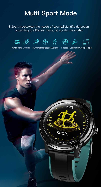 Reloj inteligente SN80 para hombres IP68 pulsera de pantalla táctil completa resistente al agua Frecuencia Cardíaca presión arterial reloj inteligente vs L5 L7 L8
