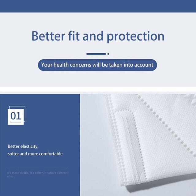 10PCS Protective Mask for Men Women Cotton 4 Layer Disposable Dustproof Face Mouth Masks Anti PM2.5 Influenza Anti Flu Masks 3