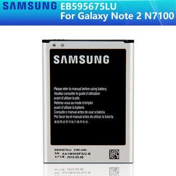 SAMSUNG Original Battery EB595675LU For Samsung Galaxy Note 2 N7100 N7102 N719 N7108 N7108D NOTE2 3100mAh цена 2017