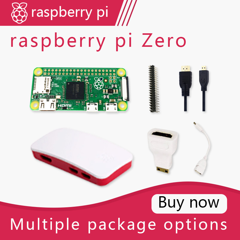 Raspberry Pi Zero DEV Kit 1GHz Single-core CPU 512MB RAM Bundle Include Case MINI HDMI UUSB Cable
