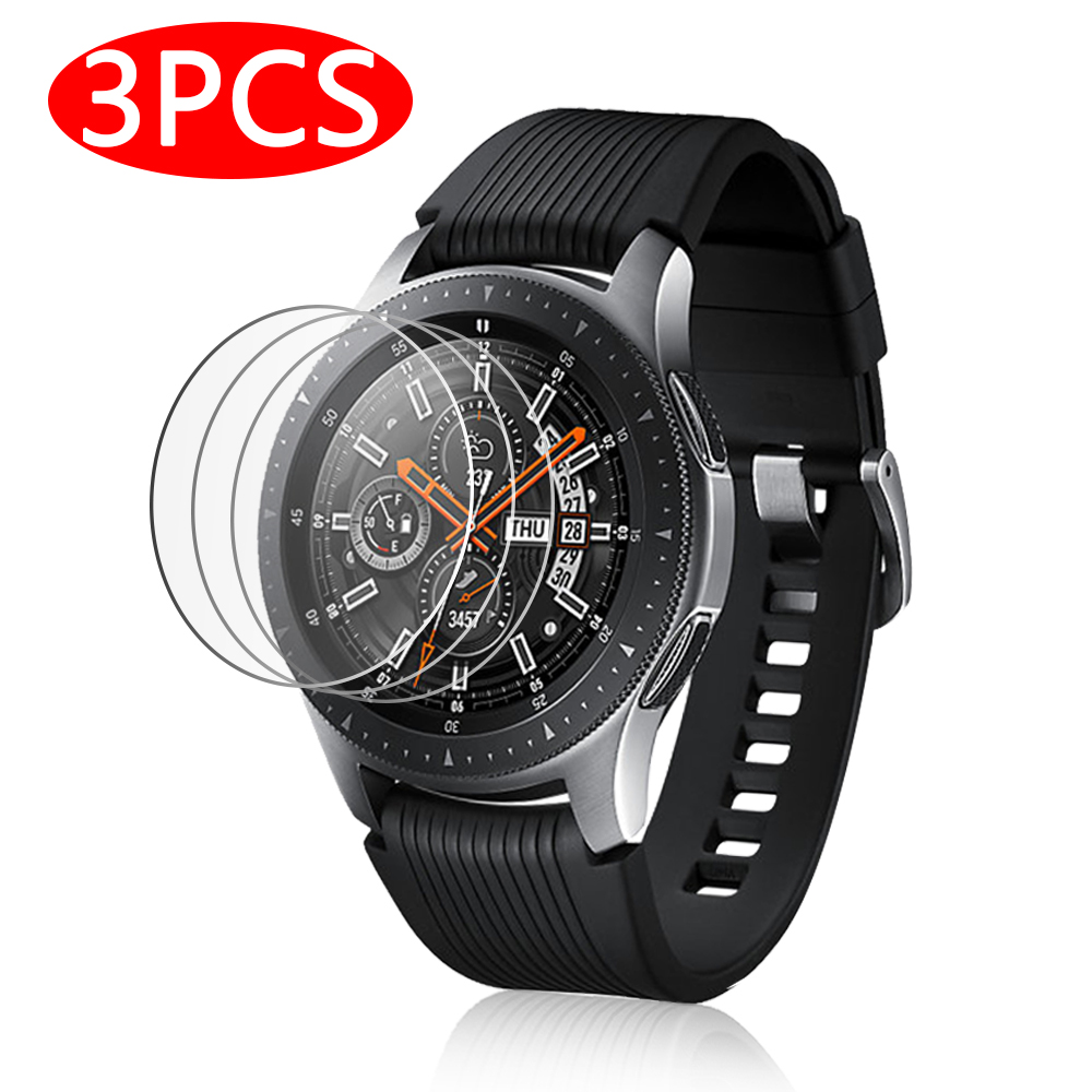 3pcs 9H Tempered Glass On For Samsung Galaxy Watch 42mm 46mm Screen Protector Thin HD Protective Film 42 46 Mm Smart Accessories