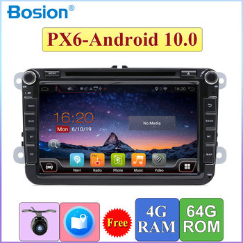 2 Din Autoradio For Volkswagen Skoda POLO GOLF 5 6 PASSAT TIGUAN TOURAN Caddy 4G+64G Android 10 Wifi BT 5.0 SWC GPS Navigation image