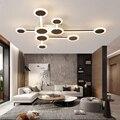 Современная светодиодная люстра  освещение для гостиной  спальни  столовой  для дома  сверкающая люстра  лампа AC90v-260v  лампадарио