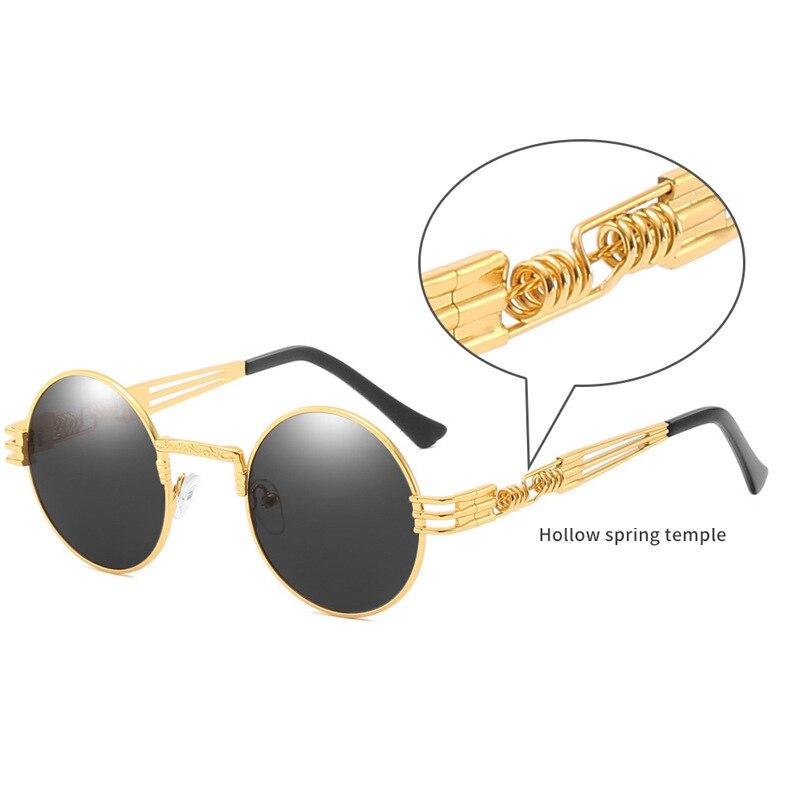 2019 NEW Round Steampunk Sunglasses Men Women Fashion Metal Glasses Brand Design Vintage Sunglasses High Quality UV400 Gafas