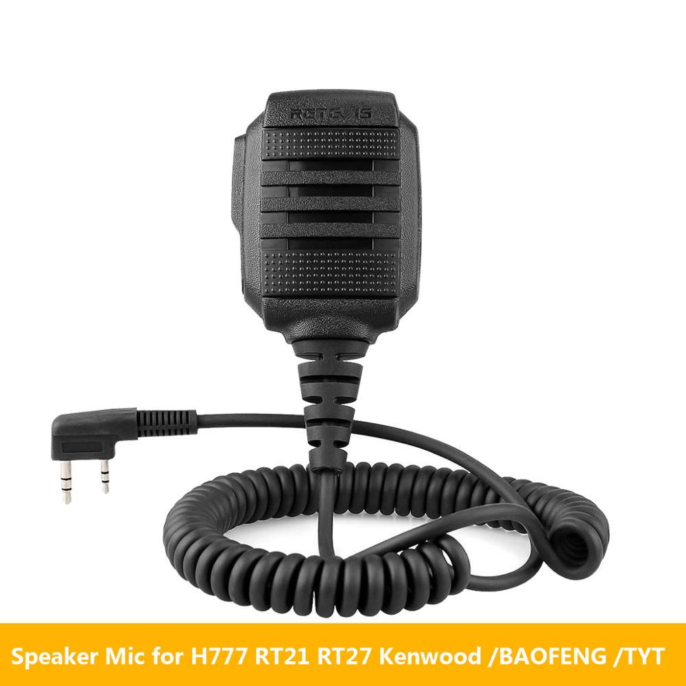 Retevis RS-114 IP54 Waterproof Speaker Microphone For Kenwood Retevis H777 RT22 RT3S RT81 Baofeng UV-5R UV-82 888S Walkie Talkie