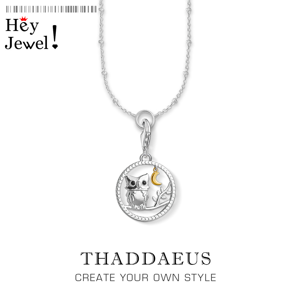 Charm Necklace Night Queen Owl 2020 Spring Ts Fashion Charm Jewelry Thomas 925 Sterling Silver Bijoux Trendy Gift For Women