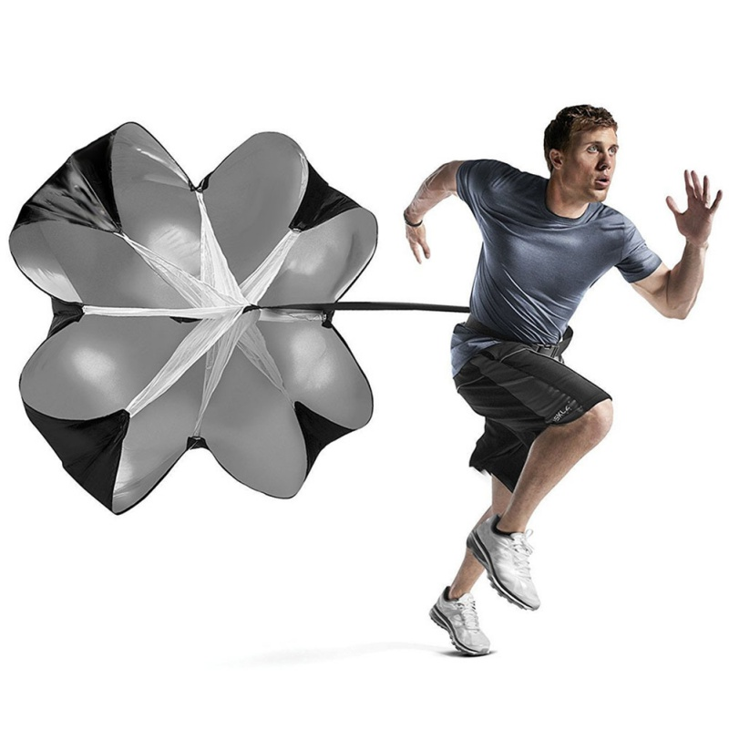Black Newest Speed Resistance Training Parachute Running Chute Soccer Football Training Parachute Umbrella