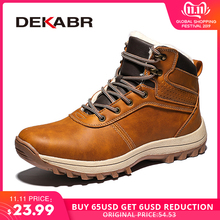 DEKABR Men Shoes Snow-Boots Working Handmade Split Waterproof Winter Genuine-Leather