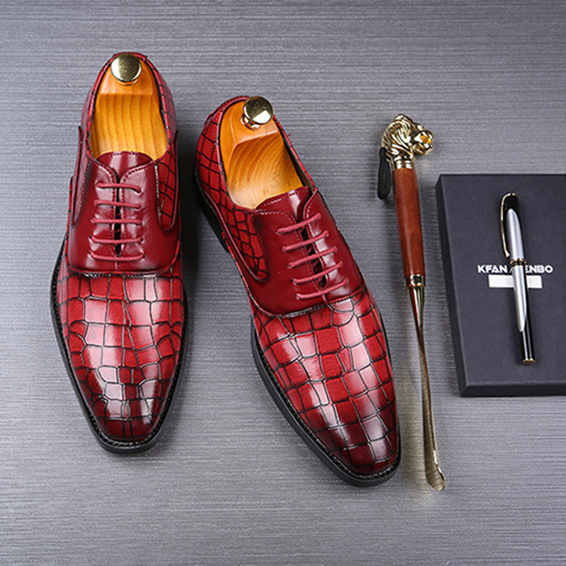 New Men Dress Shoes Shadow Patent Leather Luxury Fashion Groom Wedding Shoes Men Luxury italian style Oxford Shoes Big Size 48 5