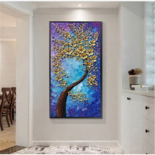 Large 3D canvas painting in the living room bedroom restaurant interior decoration picture wall art hand painted oil painting
