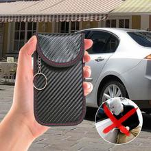 1pc Car Fob Signal Blocker Faraday Bag Signal Blocking Bag RFID Anti-scanning Shielding Pouch Wallet Case For Privacy Protection