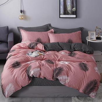Nordic Bedding Set Pink Leaf 8